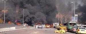 Siria.Esplosione di un auto nel centro di Damasco