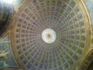 Chiesa di S. Giuseppe - Via Plana: vista interna della cupola
